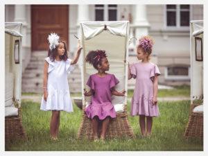 Sesja zdjęciowa marki mody dziecięcej Amelie et Sophie